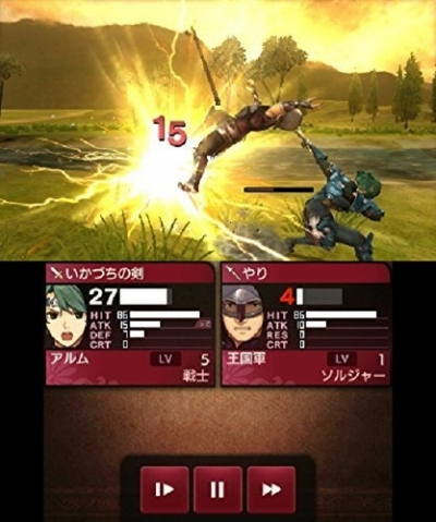 Screen ze hry Fire Emblem Echoes: Shadows of Valentia