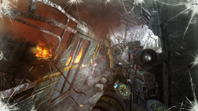 Screen ze hry Metro: Last Light Redux