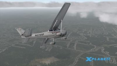 Screen ze hry X-Plane 11