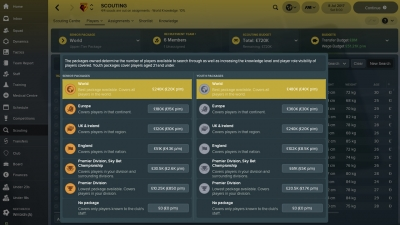 Screen ze hry Football Manager 2018