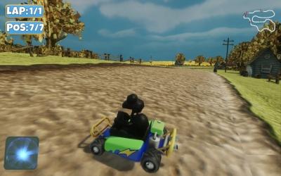 Screen ze hry Moorhuhn Kart