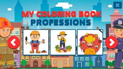 Screen ze hry My Coloring Book: Professions