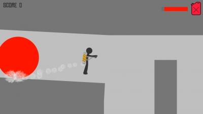 Screen ze hry Stickman Jetpack