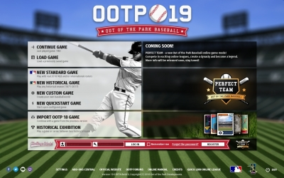 Screen ze hry Out of the Park Baseball 19