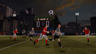 Screen ze hry VRFC Virtual Reality Football Club