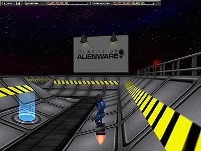 Screen ze hry Alien Racer