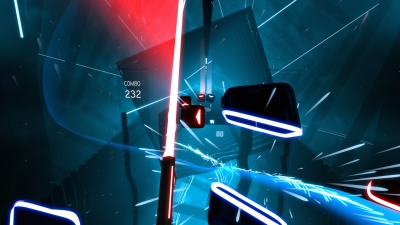 Screen ze hry Beat Saber