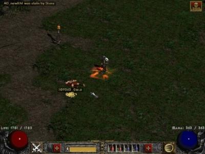 Screen ze hry Diablo II: Lord of Destruction