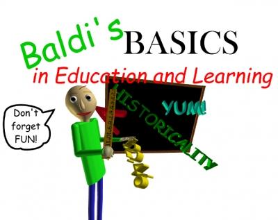 Artwork ke hře Baldi´s Basics in Education and Learning