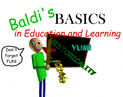 Artwork ke hře Baldi´s Basics in Education and Learning