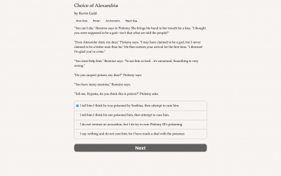 Screen ze hry Choice of Alexandria