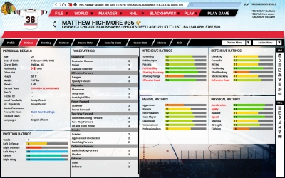 Screen ze hry Franchise Hockey Manager 5