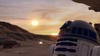 Screen ze hry Trials on Tatooine