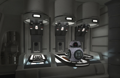 Screen ze hry Star Wars Droid repair bay