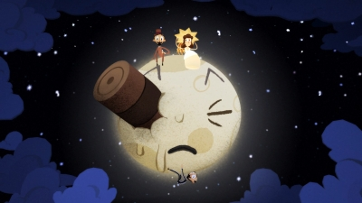 Screen ze hry Google Spotlight Stories Back to the Moon