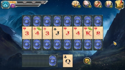 Screen ze hry Mystic Journey: Tri Peaks Solitaire