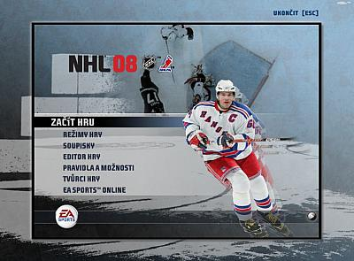 Screen ze hry NHL 08