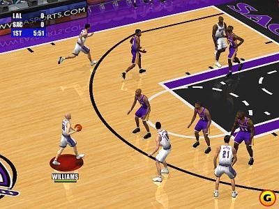 Screen NBA Live 2001