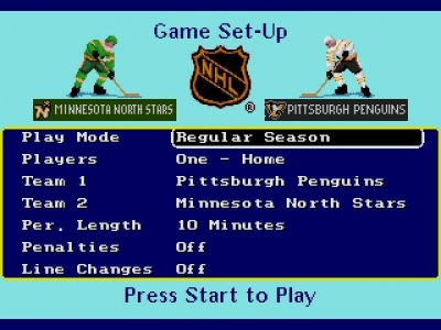 Screen ze hry NHL Hockey