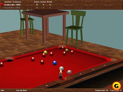 Screen Virtual Pool Hall