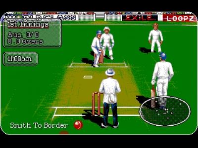 Screen ze hry Allan Border´s Cricket