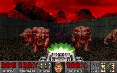 Screen ze hry Doom