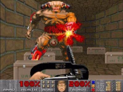 Screen ze hry Doom II