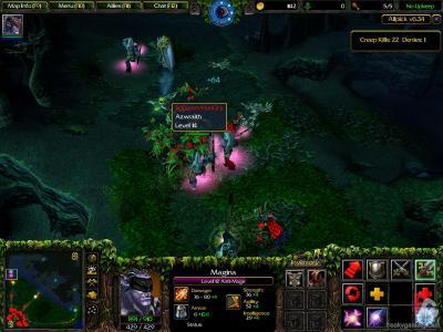 Screen ze hry Warcraft III: The Frozen Throne