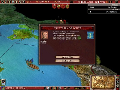 Screen Europa Universalis: Rome