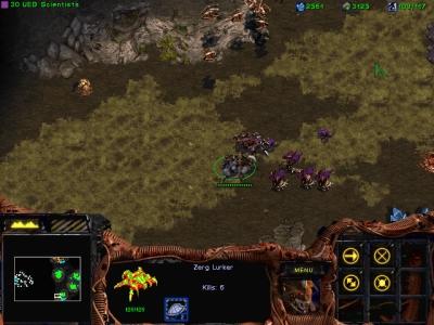 Screen ze hry StarCraft: Brood War