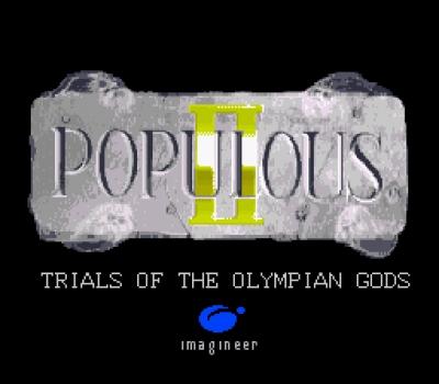 Screen ze hry Populous II: Trials of the Olympian Gods