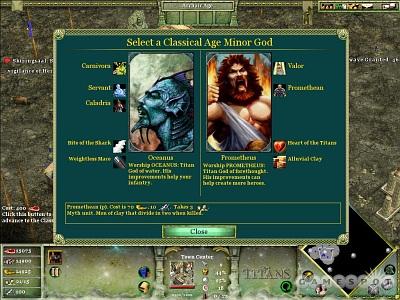 Screen Age of Mythology: The Titans