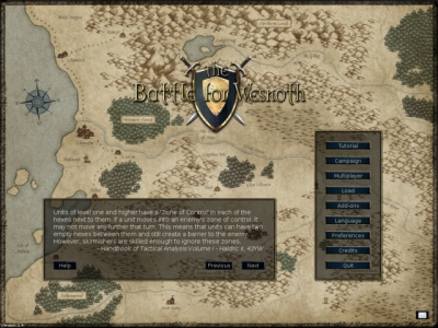 Screen ze hry Battle for Wesnoth, The
