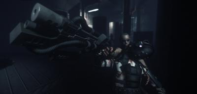 Screen ze hry Chronicles of Riddick: Assault on Dark Athena, The