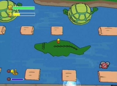 Screen ze hry Simpsons Game, The