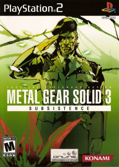 Obal hry Metal Gear Solid 3: Subsistence